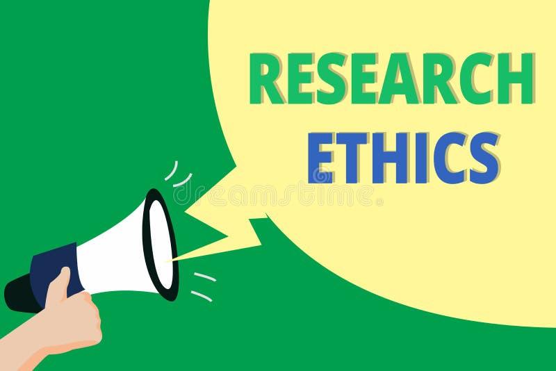 Word het schrijven de Ethiek van het tekstonderzoek Bedrijfsconcept voor geinteresseerd in de analyse van ethische kwesties die o stock illustratie