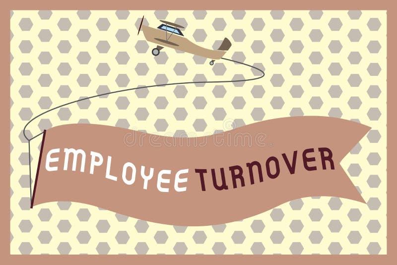 Word het schrijven de Omzet van de tekstwerknemer Bedrijfsconcept voor Aantal of percentage arbeiders die een organisatie verlate vector illustratie