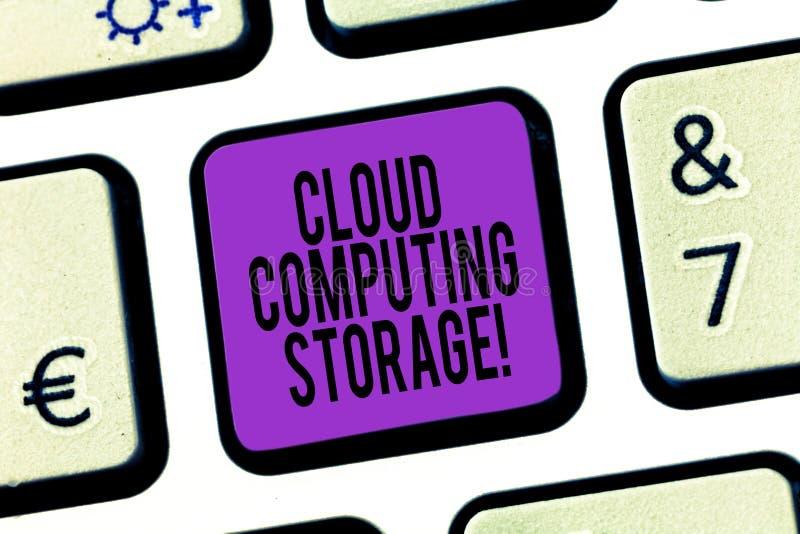 Word het schrijven de Opslag van tekstcloud computing Het bedrijfsconcept voor digitale gegevens wordt opgeslagen in logisch pool royalty-vrije stock afbeeldingen
