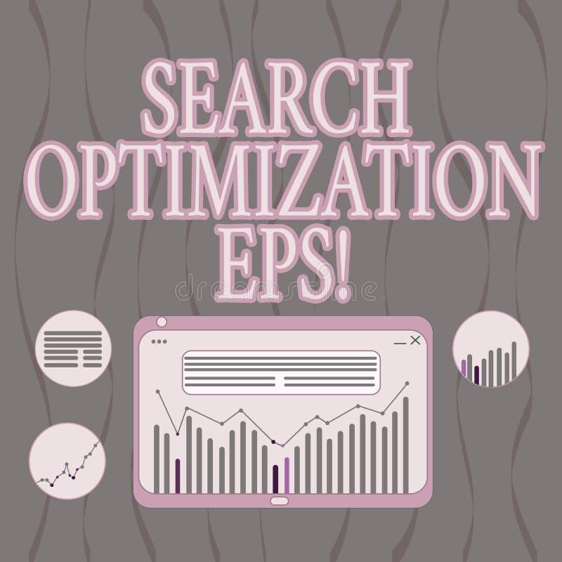 Word het schrijven de Optimalisering Eps van het tekstzoeken Bedrijfsconcept voor proces die het zicht van een Digitale website b royalty-vrije illustratie