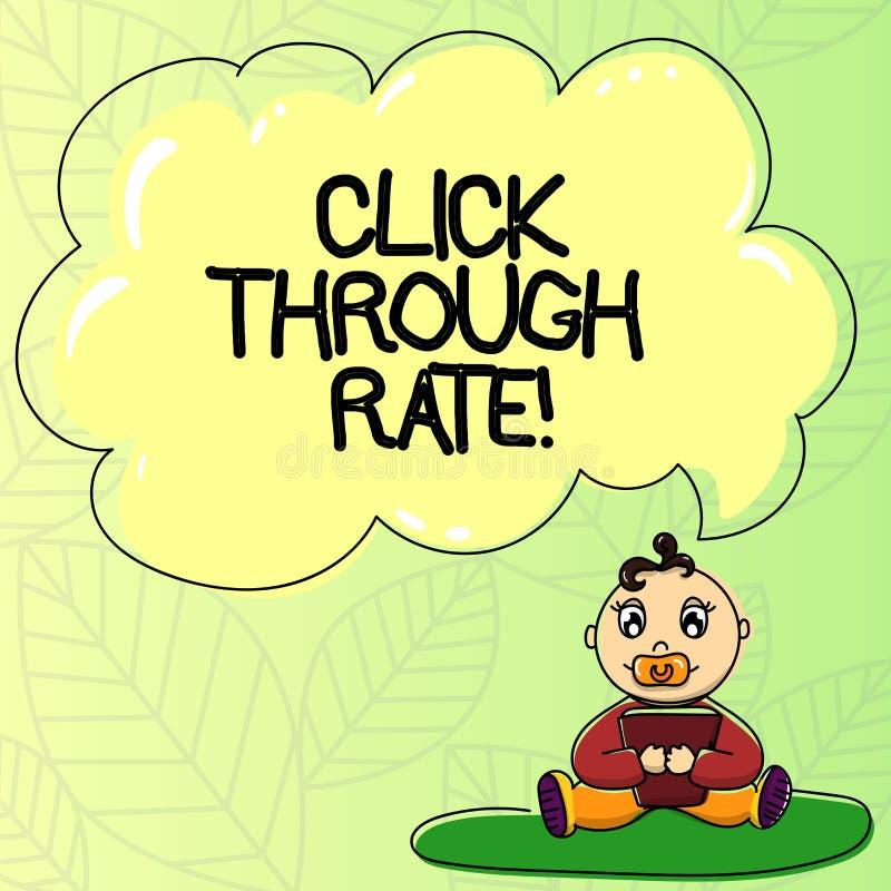 Word het schrijven de tekst klikt door Tarief Bedrijfsconcept voor aandeel bezoekers die verbinding aan bijzondere plaats volgen royalty-vrije illustratie