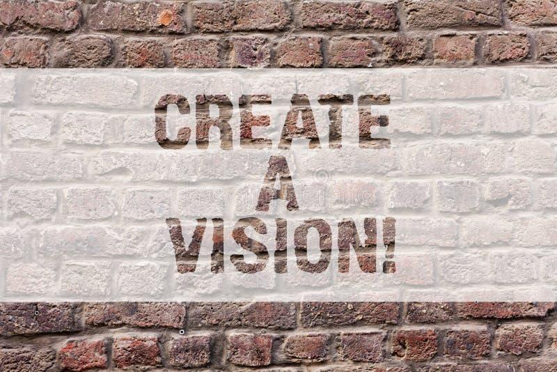Word het schrijven de tekst leidt tot een Visie Bedrijfsconcept voor Develop een de motivatiedoel van de strategieopdracht om Bak stock foto