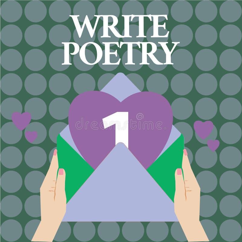 Word het schrijven de tekst schrijft Poëzie Bedrijfsconcept voor het Schrijven van literatuur roanalysistic melancholische ideeën stock illustratie