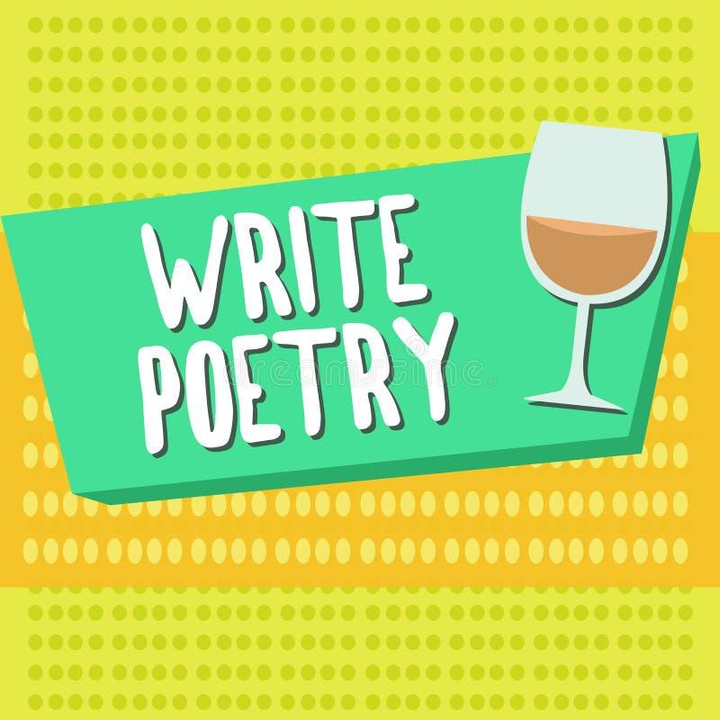 Word het schrijven de tekst schrijft Poëzie Bedrijfsconcept voor het Schrijven van literatuur roanalysistic melancholische ideeën royalty-vrije illustratie
