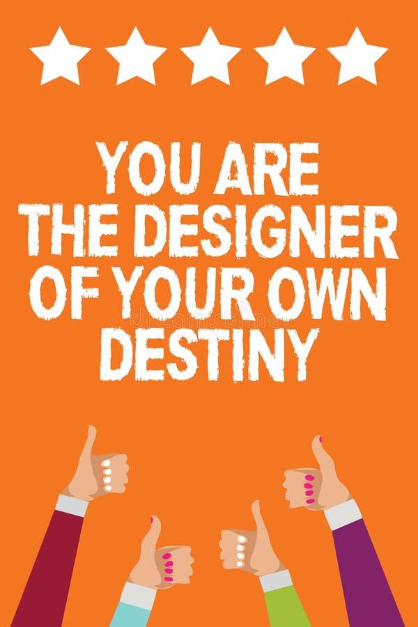 Word het schrijven de tekst u is het Lot van Ontwerperof your own Het bedrijfsconcept voor het Greepleven maakt veranderingenmann vector illustratie