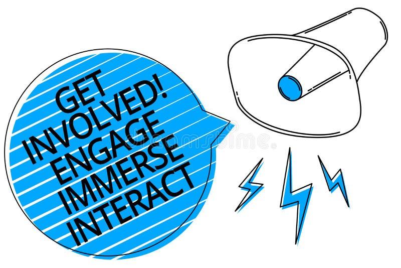 Word het schrijven de tekst wordt Geïmpliceerd in dienst neemt onderdompelt op elkaar inwerkt Het bedrijfsconcept voor Join verbi stock illustratie