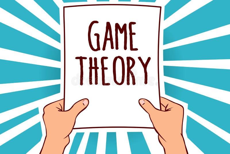 Word het schrijven de Theorie van het tekstspel Bedrijfsconcept voor tak van wiskunde betreffende analyse van de holdingsdocument stock illustratie