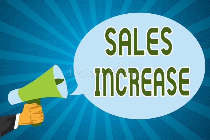 Word het schrijven de Verhoging van de tekstverkoop Bedrijfsconcept voor Grow uw zaken door manieren te vinden om verkoop te verh stock foto's