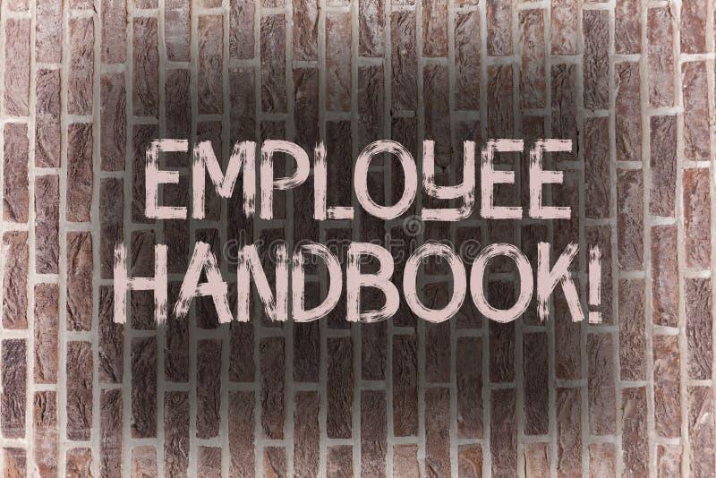 Word het schrijven het Handboek van de tekstwerknemer Bedrijfsconcept voor Document de Handverordeningen Baksteen van de het Bele stock illustratie