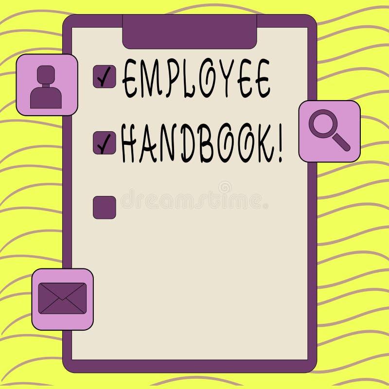 Word het schrijven het Handboek van de tekstwerknemer Bedrijfsconcept voor Document Handverordeningen het Beleidscode van de Rege vector illustratie