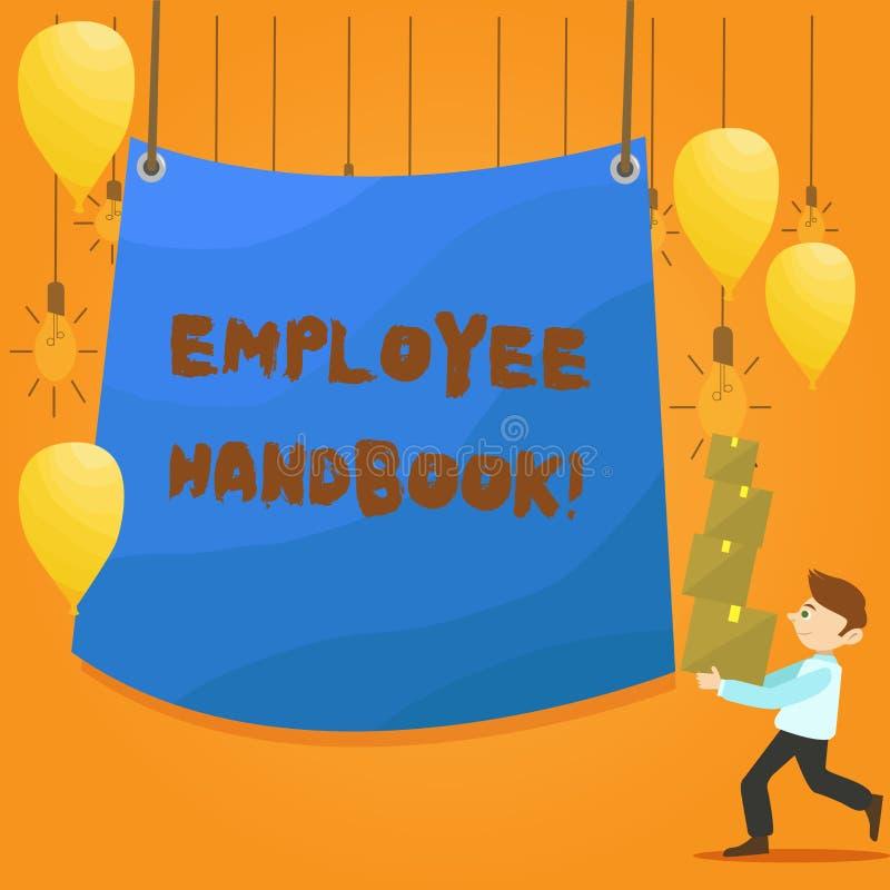 Word het schrijven het Handboek van de tekstwerknemer Bedrijfsconcept voor Document Handverordeningen het Beleidscode van de Rege stock illustratie