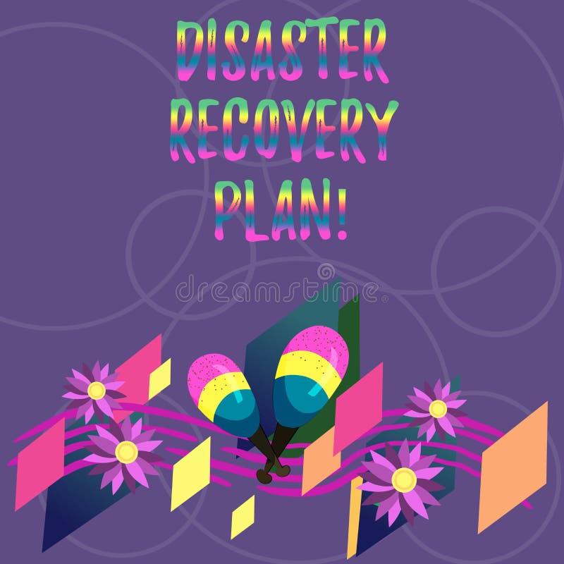 Word het schrijven het Herstelprogramma van de tekstramp Bedrijfsconcept voor plan voor bedrijfsstabiliteit in het geval van ramp vector illustratie