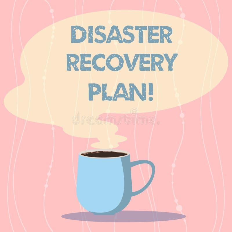 Word het schrijven het Herstelprogramma van de tekstramp Bedrijfsconcept voor plan voor bedrijfsstabiliteit in het geval van ramp royalty-vrije illustratie