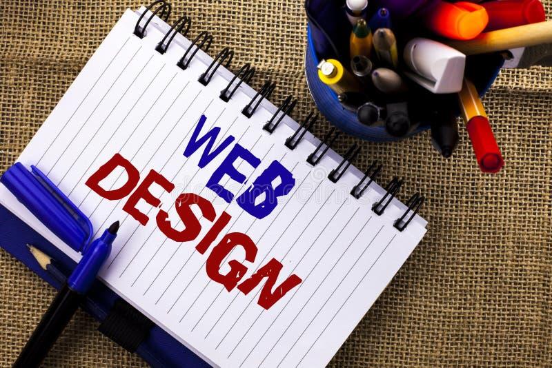 Word het schrijven het Ontwerp van het tekstweb Bedrijfsconcept voor van de het Malplaatje Ontvankelijke die Webpagina van de Web royalty-vrije stock afbeeldingen