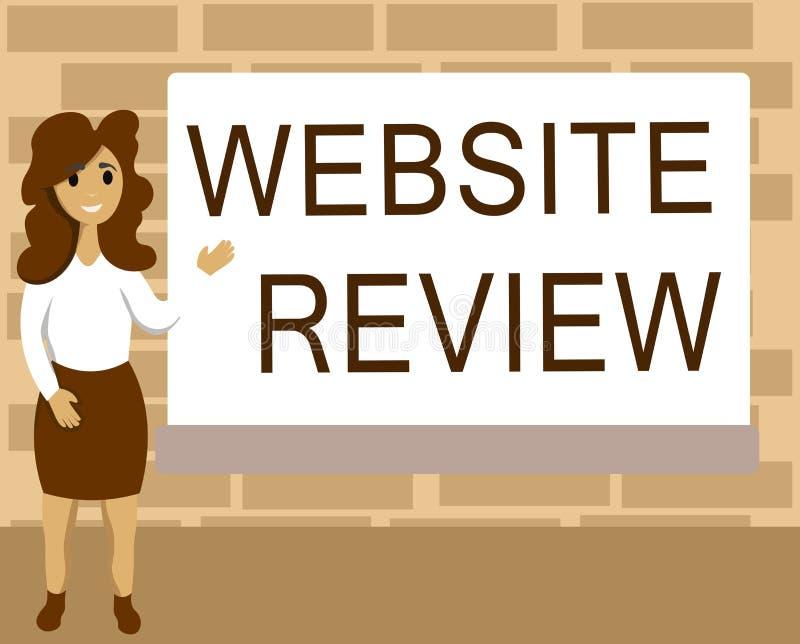 Word het schrijven het Overzicht van de tekstwebsite Bedrijfsconcept voor Overzichten die over ondernemingen en de diensten kunne stock illustratie