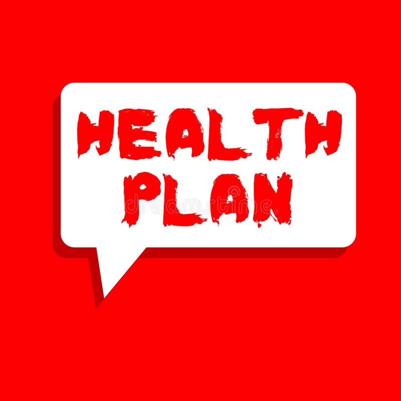 Word het schrijven het Plan van de tekstgezondheid Bedrijfsconcept voor Om het even welke strategie die de medische diensten aan  royalty-vrije illustratie