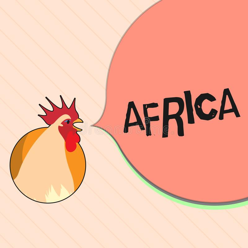 Word het schrijven tekst Afrika Bedrijfsconcept voor werelden tweede - het grootst en tweede - meest dichtbevolkte continent Arab stock illustratie