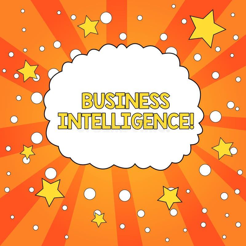 Word het schrijven tekst Bedrijfsintelligentie Bedrijfsconcept voor Beste praktijken van Informatie om Perforanalysisce te optima vector illustratie