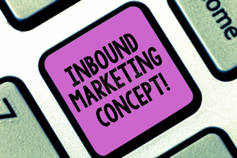 Word het schrijven tekst Binnenkomend Marketing Concept Bedrijfsconcept voor strategie die zich bij het aantrekken van de sleutel stock illustratie