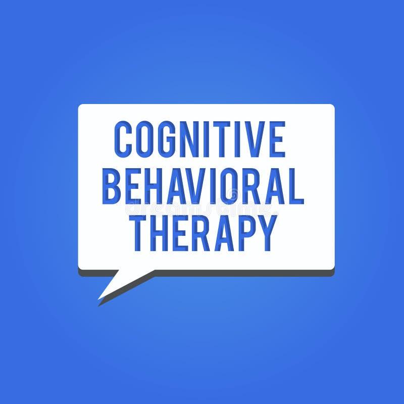 Word het schrijven tekst Cognitieve Gedragstherapie Bedrijfsconcept voor Psychologische behandeling voor geestelijke wanorde vector illustratie