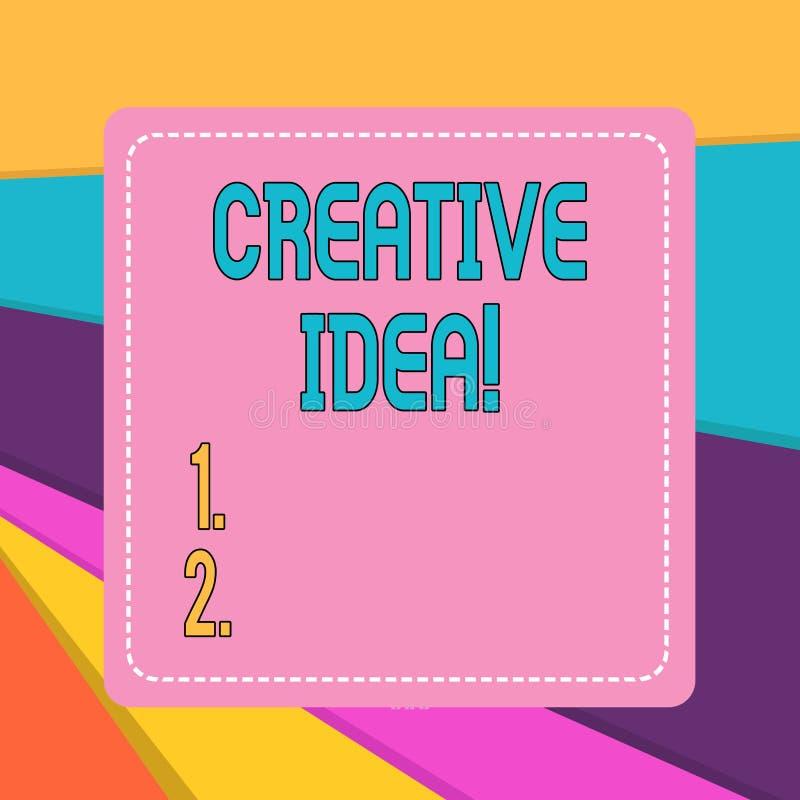 Word het schrijven tekst Creatief Idee o royalty-vrije illustratie