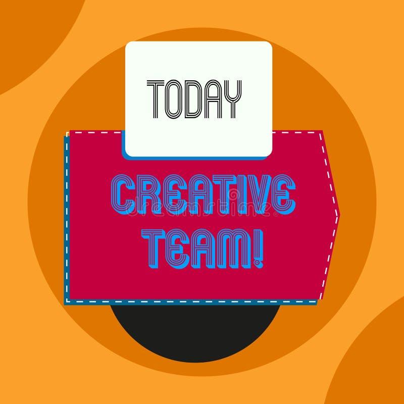 Word het schrijven tekst Creatief Team Bedrijfsconcept voor Groep het tonen die met de reclameidee?n op de proppen komt stock illustratie