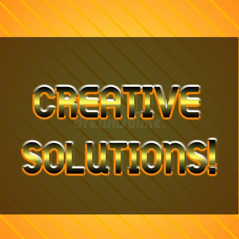 Word het schrijven tekst Creatieve Oplossingen Bedrijfsconcept voor Originele en unieke benadering in het oplossen van een Oneind royalty-vrije illustratie