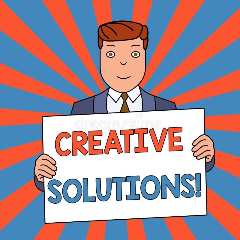 Word het schrijven tekst Creatieve Oplossingen Bedrijfsconcept voor Originele en unieke benadering in het oplossen van een proble stock illustratie