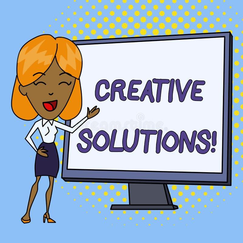 Word het schrijven tekst Creatieve Oplossingen Bedrijfsconcept voor Originele en unieke benadering in het oplossen van een proble royalty-vrije illustratie