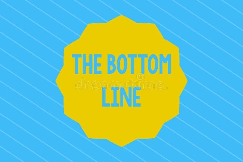 Word het schrijven tekst de Bodemlijn Het bedrijfsconcept voor het vragen van iemand beginnen Goede prestaties te doen moedigt aa vector illustratie