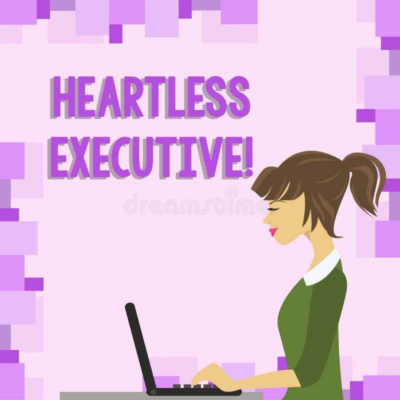 Word het schrijven tekst de Harteloze Uitvoerende macht Bedrijfsconcept voor collega die een gebrek aan empathie of medelevenfoto vector illustratie