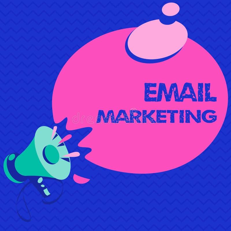 Word het schrijven tekst E-mail Marketing Bedrijfsconcept voor het Verzenden van een commercieel bericht naar een groep die mense royalty-vrije illustratie