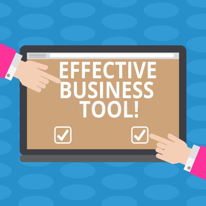 Word het schrijven tekst Efficiënt Zakelijk hulpmiddel Bedrijfsconcept voor gebruikt om bedrijfsprocessen HU te controleren en te royalty-vrije illustratie