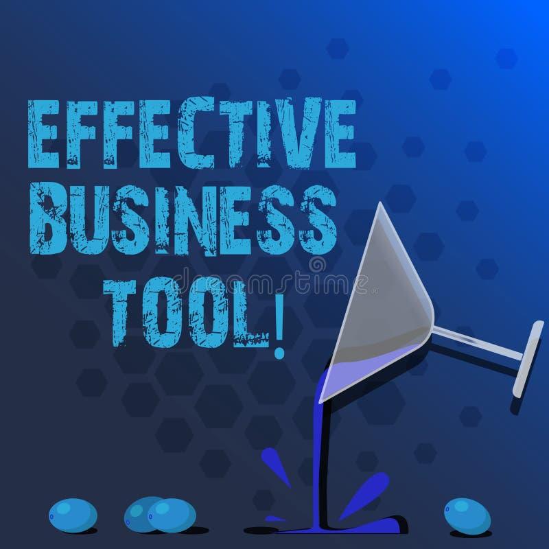 Word het schrijven tekst Efficiënt Zakelijk hulpmiddel Bedrijfsconcept voor gebruikt om bedrijfsprocessencocktail te controleren  vector illustratie