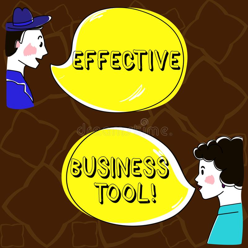 Word het schrijven tekst Efficiënt Zakelijk hulpmiddel Bedrijfsconcept voor gebruikt om bedrijfsprocessenhand te controleren en t royalty-vrije illustratie