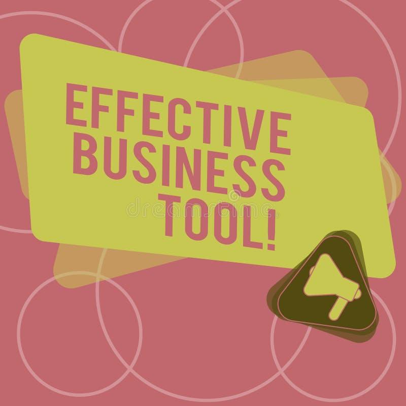 Word het schrijven tekst Efficiënt Zakelijk hulpmiddel Bedrijfsconcept voor gebruikt om bedrijfsprocessenmegafoon binnen te contr vector illustratie