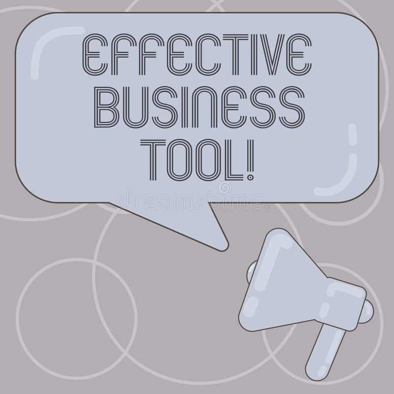 Word het schrijven tekst Efficiënt Zakelijk hulpmiddel Bedrijfsconcept voor gebruikt om bedrijfsprocessenmegafoon te controleren  royalty-vrije illustratie