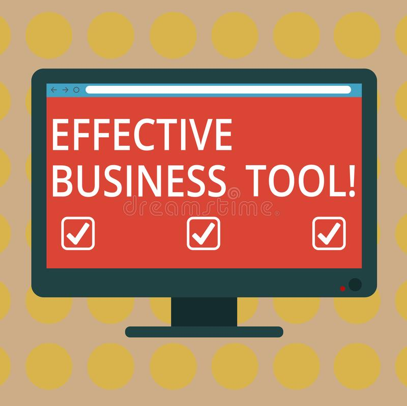 Word het schrijven tekst Efficiënt Zakelijk hulpmiddel Bedrijfsconcept voor gebruikt om bedrijfsprocessenspatie te controleren en stock illustratie