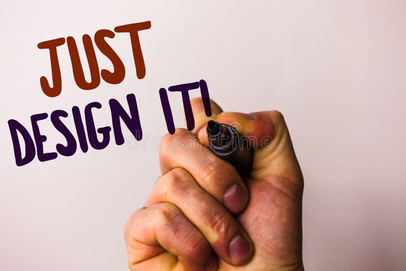 Word het schrijven tekst enkel Ontwerp het Motievenvraag Bedrijfsconcept voor Create de Nieuwe Originele pen van de de Mensenhold stock illustratie
