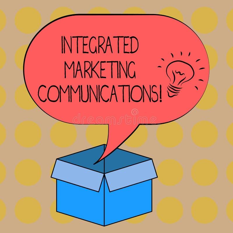 Word het schrijven tekst Geïntegreerde Publicitaire mededelingen Het bedrijfsconcept voor verbond al vormen of communicatie het I vector illustratie