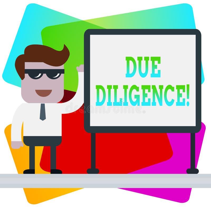 Word het schrijven tekst Gepaste Ijver Bedrijfsconcept voor Rationele die maatregelen door aan te tonen worden getroffen vermijde stock illustratie