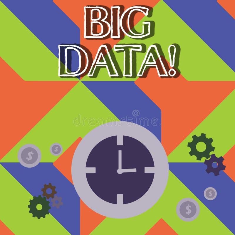 Word het schrijven tekst Grote Gegevens Bedrijfsconcept voor uiterst grote reeksen die kunnen worden geanalyseerd om patronentijd vector illustratie