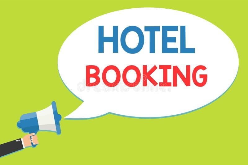 Word het schrijven tekst Hotelreservering Bedrijfsconcept voor de Online Luxe de Gastvrijheidsmens van de Reserves Presidentiële  stock illustratie