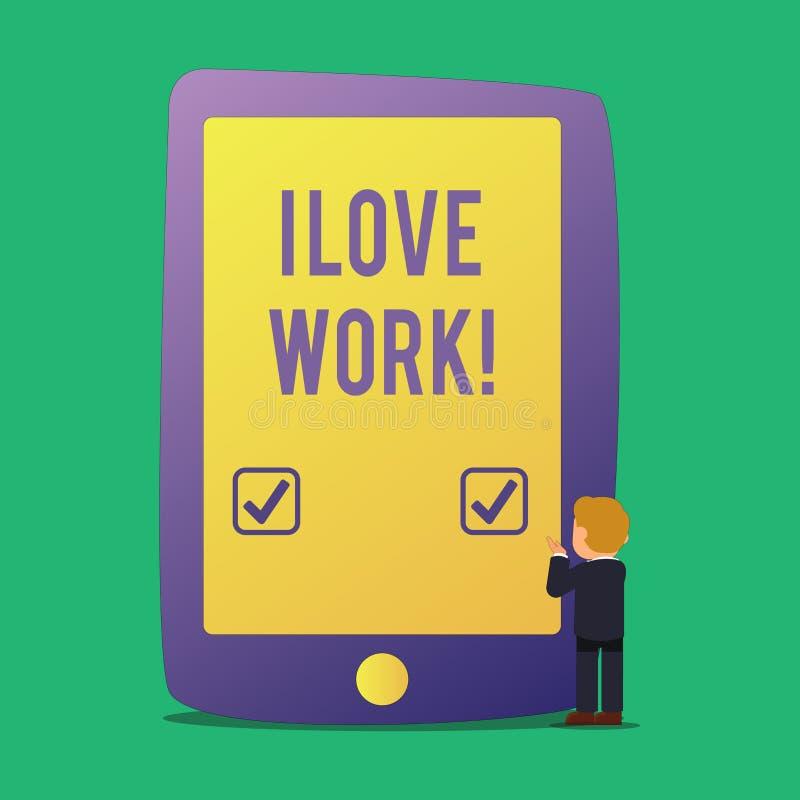 Word het schrijven tekst I het Liefdewerk Bedrijfsconcept voor om gelukkig te zijn tevreden met baan doet van welk u de meesten h royalty-vrije illustratie