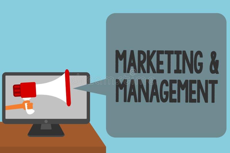 Word het schrijven tekst Marketing en Beheer Het bedrijfsconcept voor proces om strategieën te ontwikkelen voor product het Alarm stock illustratie