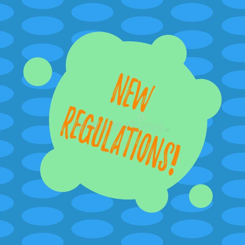 Word het schrijven tekst Nieuwe Verordeningen Het bedrijfsconcept voor Verandering van Wetten beslist de Collectieve Misvormde Sp stock illustratie