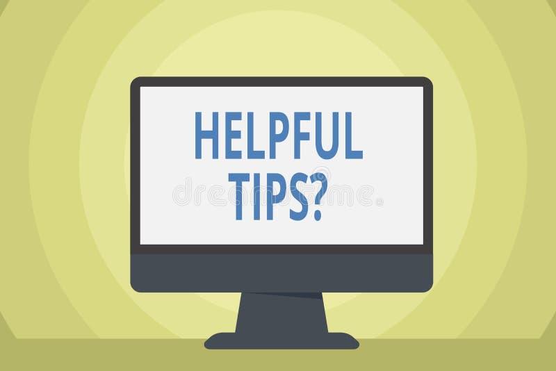 Word het schrijven tekst Nuttige Uiteindenvraag Bedrijfsdieconcept voor geheime informatie of advies wordt gegeven om nuttige ken royalty-vrije illustratie