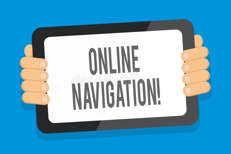 Word het schrijven tekst Online Navigatie Het bedrijfsconcept voor het navigeren van een netwerk van informatie van middelen voor royalty-vrije illustratie