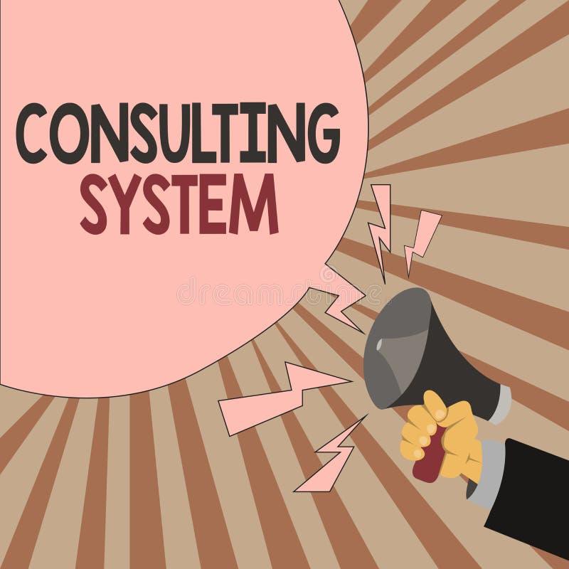 Word het schrijven tekst het Raadplegen Systeem Bedrijfsconcept voor het Helpen van firma's procesgeschiktheid en functionaliteit royalty-vrije illustratie