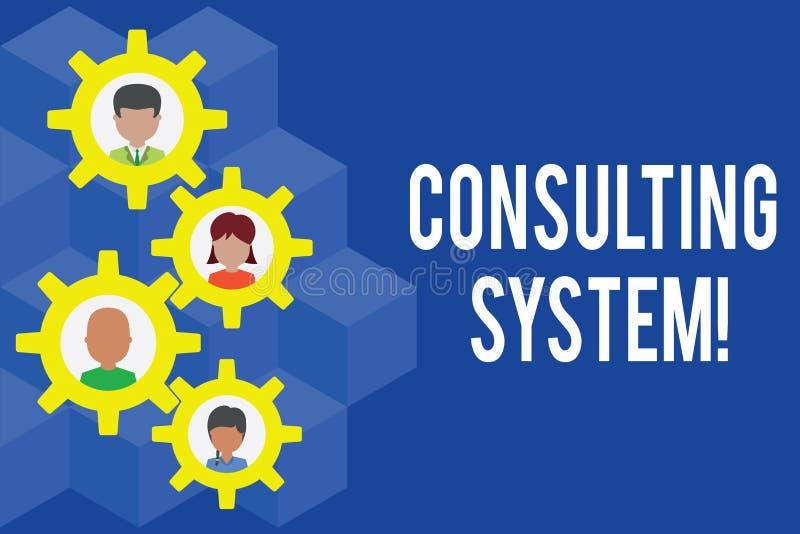 Word het schrijven tekst het Raadplegen Systeem Bedrijfsconcept voor het Helpen van firma's procesgeschiktheid en functionaliteit vector illustratie